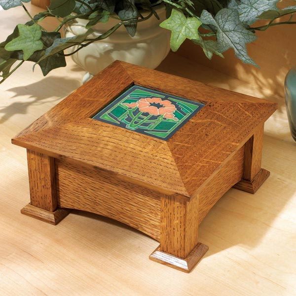 Tile-Topped Keepsake Box Woodworking Plan, Gifts & Decorations Boxes & Baskets