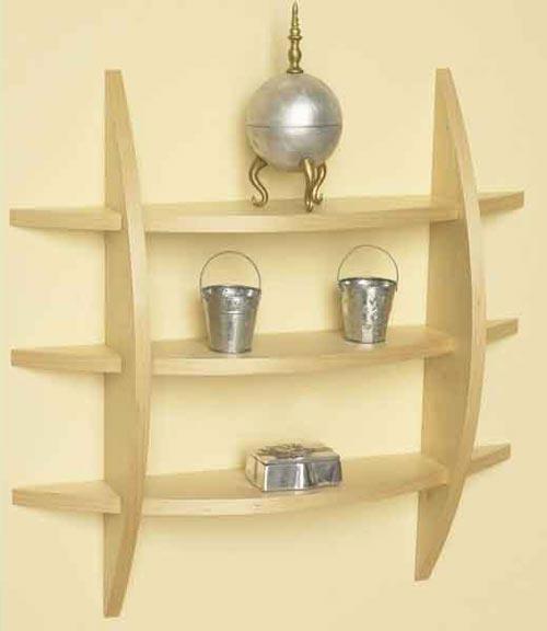 Quick-to-make contemporary wall shelf