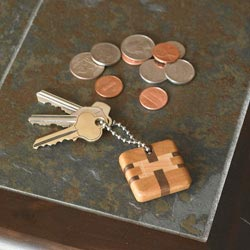 Kaleidoscopic Key Chains Woodworking Plan, Gifts & Decorations Office Accessories