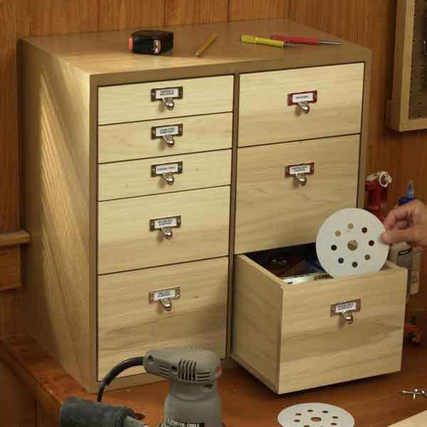 Shop Organizer with Drawers Woodworking Plan, Workshop & Jigs Shop Cabinets, Storage, & Organizers