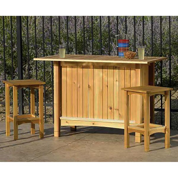 Outdoor Server With Stools Woodworking Plan, Outdoor Outdoor Furniture