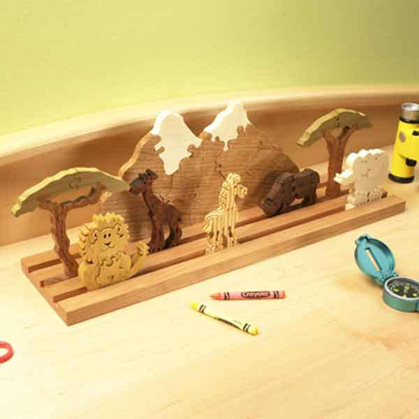 Scrollsawn Safari Puzzle Woodworking Plan, Toys & Kids Furniture Gifts & Decorations Scrollsaw, Carving, & Decorative Projects