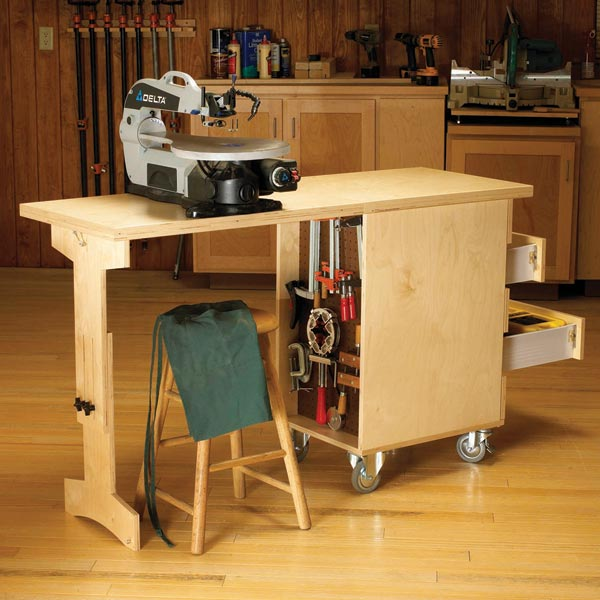 Shop Cart/Workbench Woodworking Plan, Workshop & Jigs Workbenches