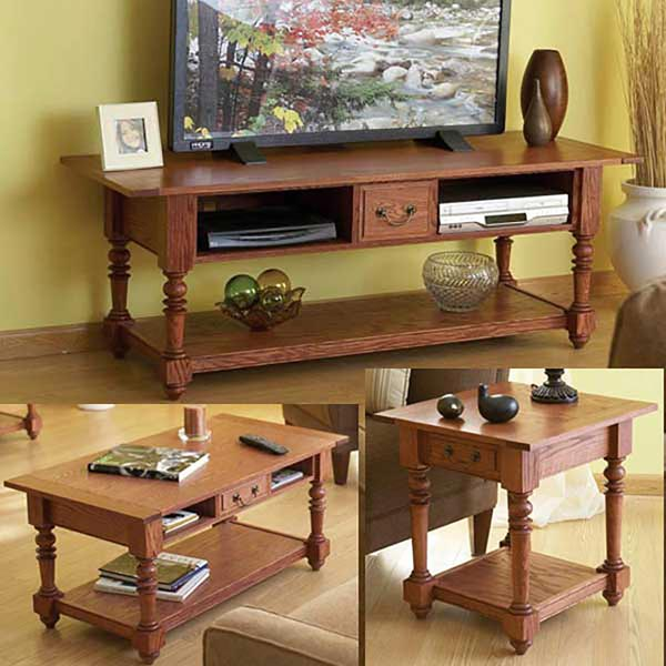 Big Screen TV Table Trio