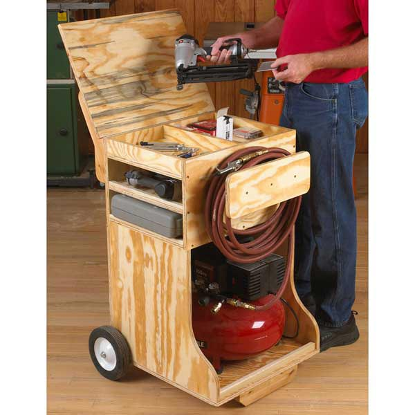 Compressed Air Work Station Woodworking Plan, Workshop & Jigs Shop Cabinets, Storage, & Organizers