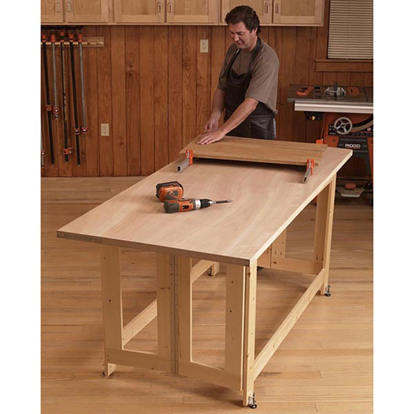 Folding Work Table Woodworking Plan, Workshop & Jigs Workbenches Workshop & Jigs $2 Shop Plans