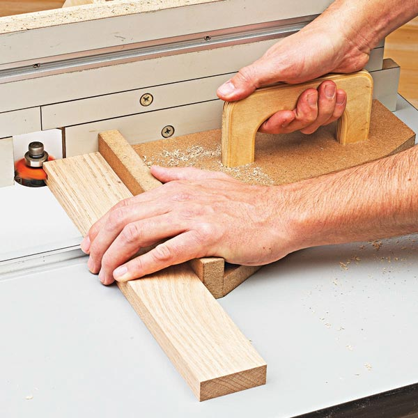 Right-Angle Router-Table Push Pad