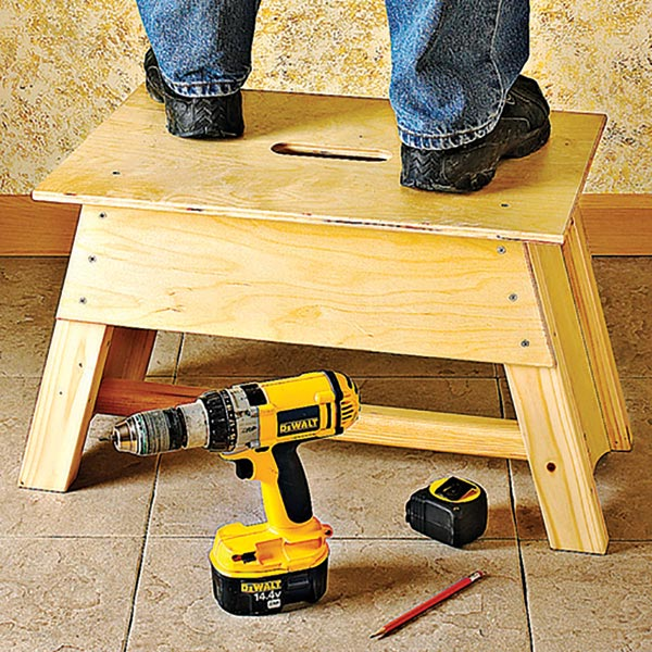 Stool & Tool-Tote Combo Woodworking Plan, Workshop & Jigs Shop Cabinets, Storage, & Organizers Workshop & Jigs $2 Shop Plans