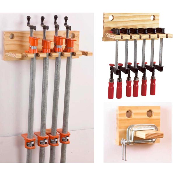 Pipe-Clamp Rack Woodworking Plan, Workshop & Jigs Shop Cabinets, Storage, & Organizers Workshop & Jigs $2 Shop Plans
