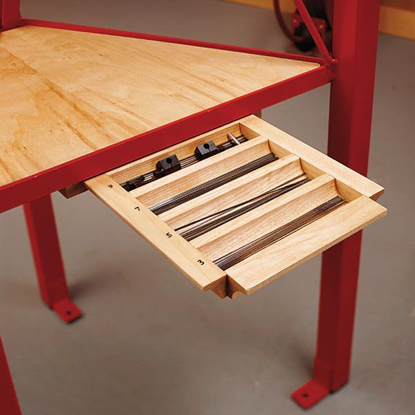 Scrollsaw-Blade Drawer