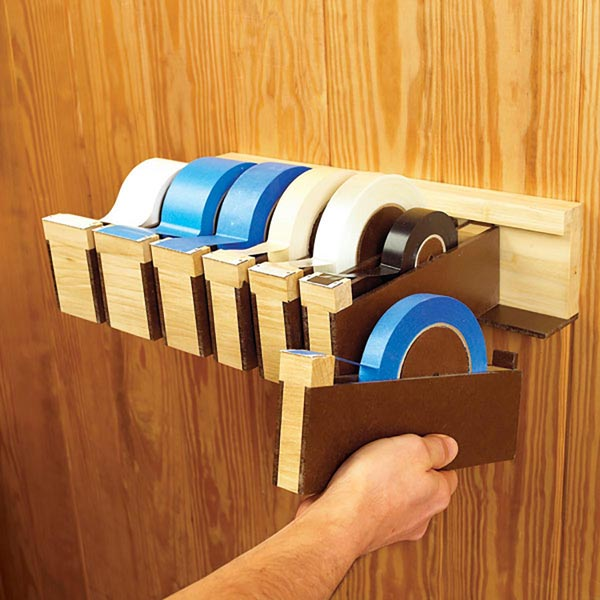 Tapes-To-Go Wall-Hung Dispensers Woodworking Plan, Workshop & Jigs Shop Cabinets, Storage, & Organizers Workshop & Jigs $2 Shop Plans