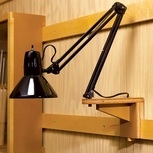 Workshop Light Support Woodworking Plan, Workshop & Jigs Tool Bases & Stands Workshop & Jigs $2 Shop Plans
