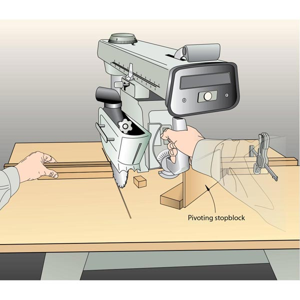 Radial-Arm Saw Stopblock Woodworking Plan, Workshop & Jigs Jigs & Fixtures Workshop & Jigs $2 Shop Plans