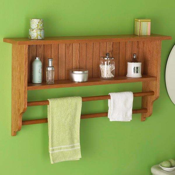 Wall Shelf and Towel Rack Woodworking Plan, Furniture Bookcases & Shelving