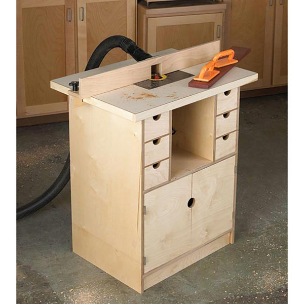 Router Table and Organizer Woodworking Plan, Workshop & Jigs Tool Bases & Stands Workshop & Jigs Shop Cabinets, Storage, & Organizers