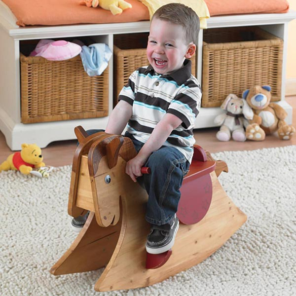 Quick and Easy Rocking Horse Woodworking Plan, Toys & Kids Furniture