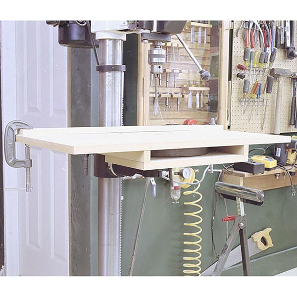 Bolt-On Drill-Press Table