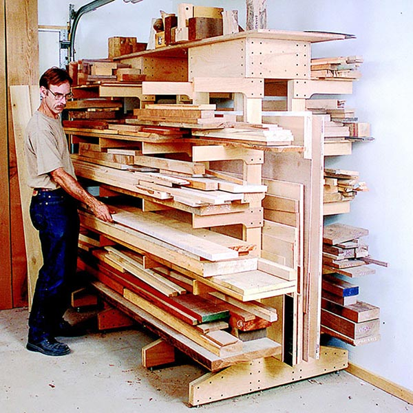 Modular Lumber Rack Woodworking Plan, Workshop & Jigs Shop Cabinets, Storage, & Organizers Workshop & Jigs $2 Shop Plans