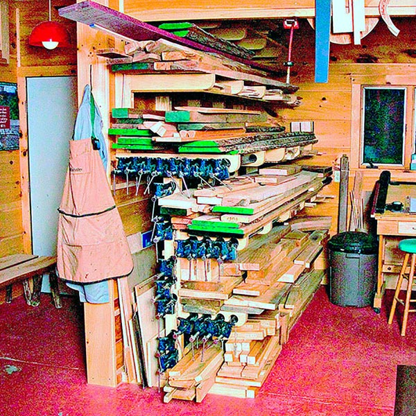 Combination Lumber/Clamp Rack Woodworking Plan, Workshop & Jigs Shop Cabinets, Storage, & Organizers Workshop & Jigs $2 Shop Plans