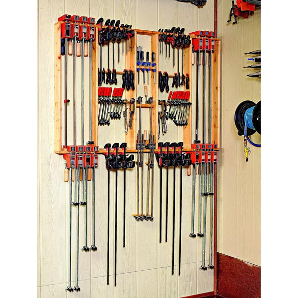 Frame-Style Clamp Hanger Woodworking Plan, Workshop & Jigs Shop Cabinets, Storage, & Organizers Workshop & Jigs $2 Shop Plans