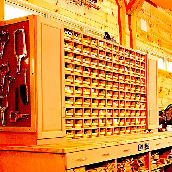 Space-Saving Hardware Bin Storage Woodworking Plan, Workshop & Jigs Shop Cabinets, Storage, & Organizers Workshop & Jigs $2 Shop Plans