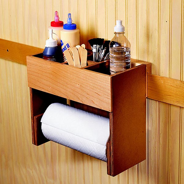 Portable Glue/Towel Center Woodworking Plan, Workshop & Jigs Shop Cabinets, Storage, & Organizers Workshop & Jigs $2 Shop Plans