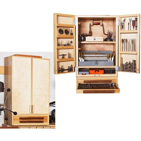 Easy, Attractive Drill-bit Cabinet Woodworking Plan, Workshop & Jigs Shop Cabinets, Storage, & Organizers Workshop & Jigs $2 Shop Plans