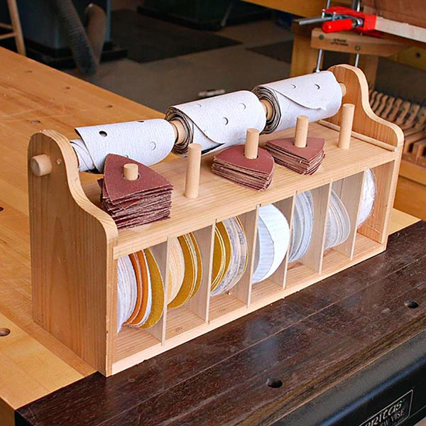 Bench top Sanding-Disc Caddy