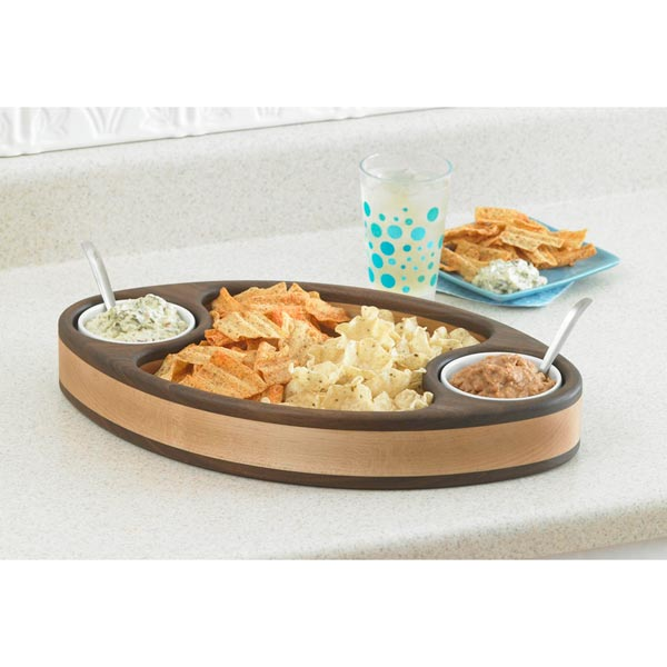 Chip & Dip Tray Woodworking Plan,