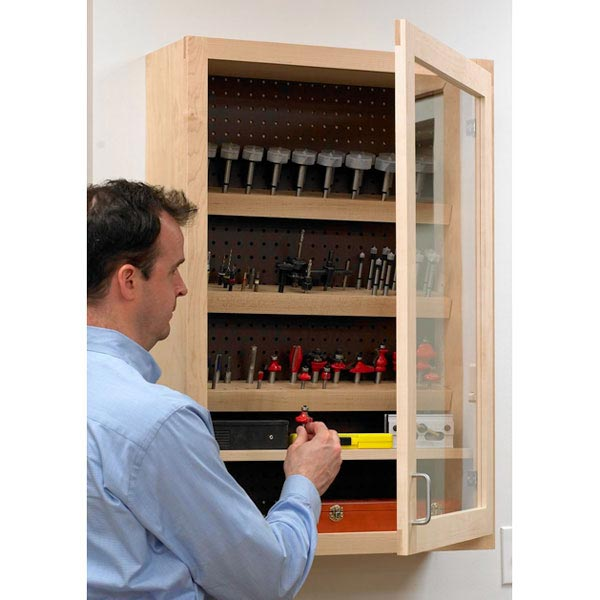 Drill and Router Bit Case Woodworking Plan, Workshop & Jigs Shop Cabinets, Storage, & Organizers