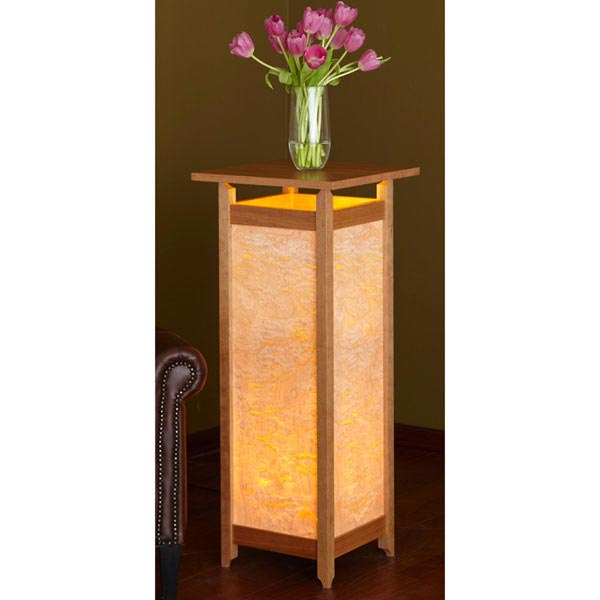 Luminous Display Pedestal Table