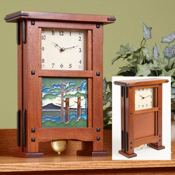 greene greene wall clock woodworking plan from wood magazine