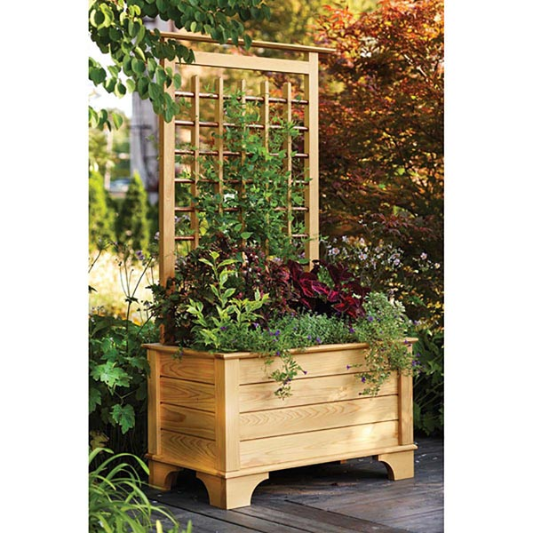Garden Planter Box and Trellis