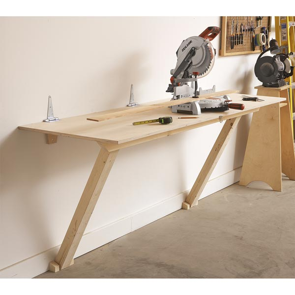 Fold-Flat Workbench