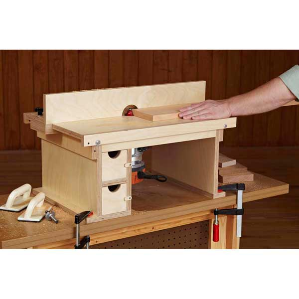 Flip Top Benchtop Router Table Woodworking Plan From Wood Magazine