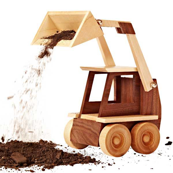 Construction-Grade Skid Loader Woodworking Plan, Toys & Kids Furniture