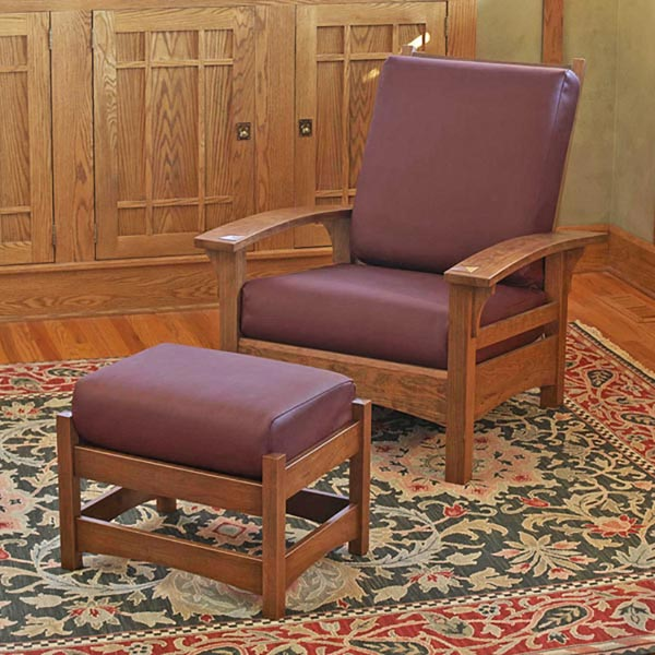 Morris Chair and Ottoman Woodworking Plan, Furniture Seating
