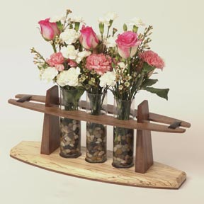 Three-Space Bud Vase Woodworking Plan, Gifts & Decorations Lighting