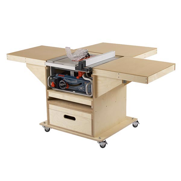 Quick-Convert Tablesaw/Router Station Woodworking Plan, Workshop & Jigs Tool Bases & Stands
