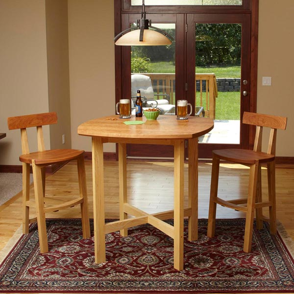 Pub Table and Chairs Woodworking Plan  Furniture Tables Furniture Seating. Pub Table and Chairs Woodworking Plan from WOOD Magazine