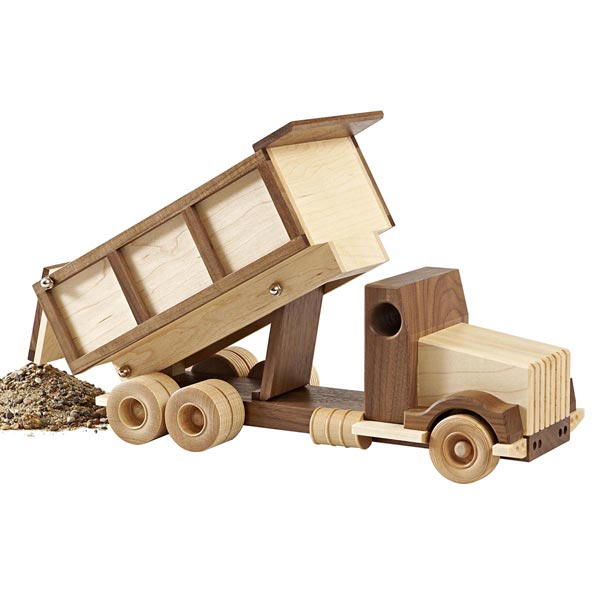 Wooden Toy Dump Truck Construction-grade dump truck woodworking plan ...