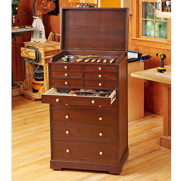 Heirloom Rolling Tool Cabinet Woodworking Plan From Wood