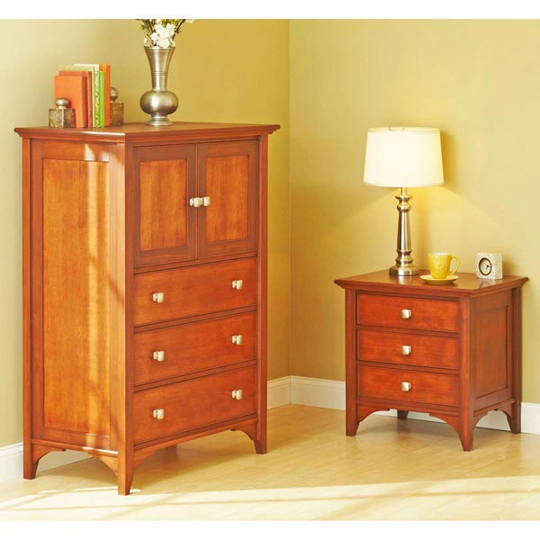 Traditional dresser nightstand woodworking plan from for Nightstand plans