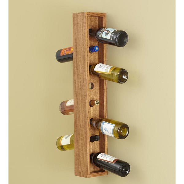 Wall-hung Wine Rack Woodworking Plan, Gifts & Decorations Kitchen Accessories Furniture Cabinets & Storage