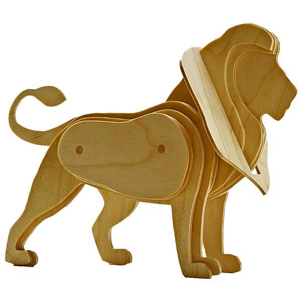 3-D Scrollsawn Lion Woodworking Plan, Toys & Kids Furniture
