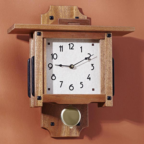 Greene & Greene Wall Clock