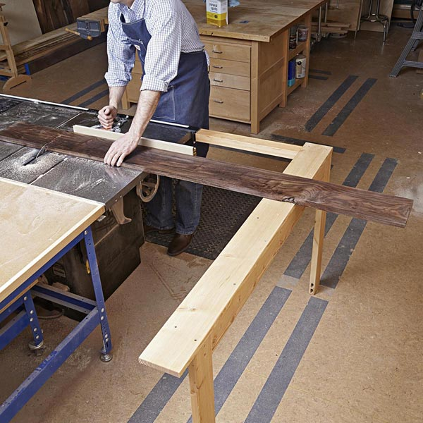 Extending Tablesaw Stock Support