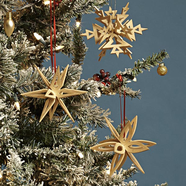 Interlocking Snowflake Ornaments