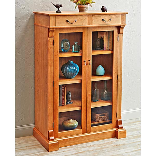 display bookcase woodworking plan from wood magazine