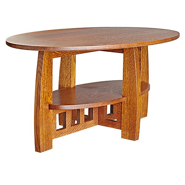Limbert style coffee table woodworking plan from wood magazine for Arts and crafts style table